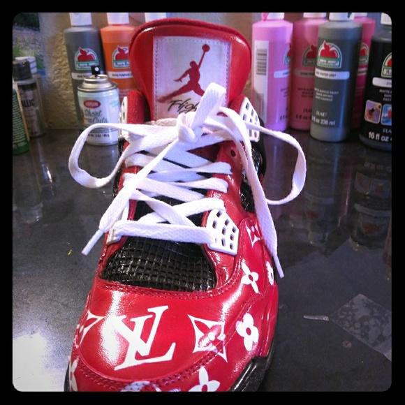 Shoes   Custom Jordans 4   Poshmark